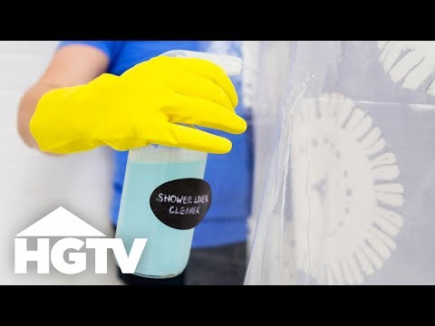How to Clean a Shower Curtain Liner - Easy Does It - HGTV
