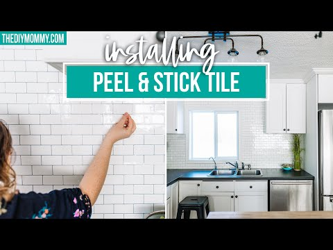 How to Install PEEL AND STICK TILE BACKSPLASH (because it's SO EASY!)