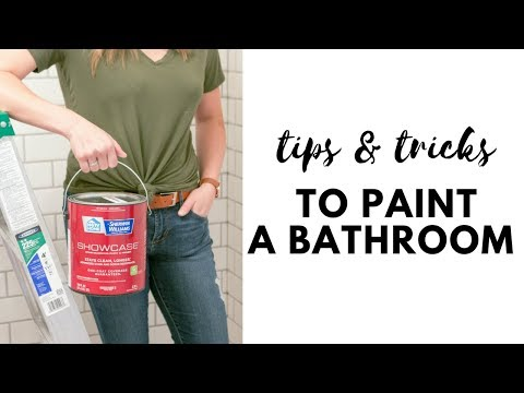 Tips and Tricks to Paint a Bathroom - Dark Gray Paint