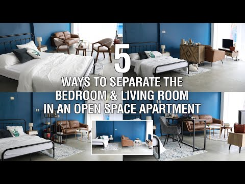 5 Ways To Separate The Bedroom & Living Room In An Open Space Apartment | MF Home TV